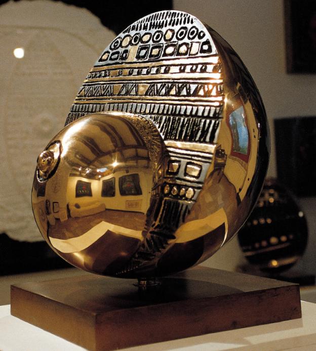 GIANMARIA POTENZA, Maternità, bronzo fusione a cera persa, diametro cm 60
