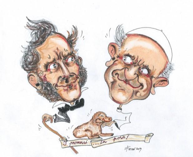 Alessandro Manzoni e Papa Francesco (i promessi…in posa),