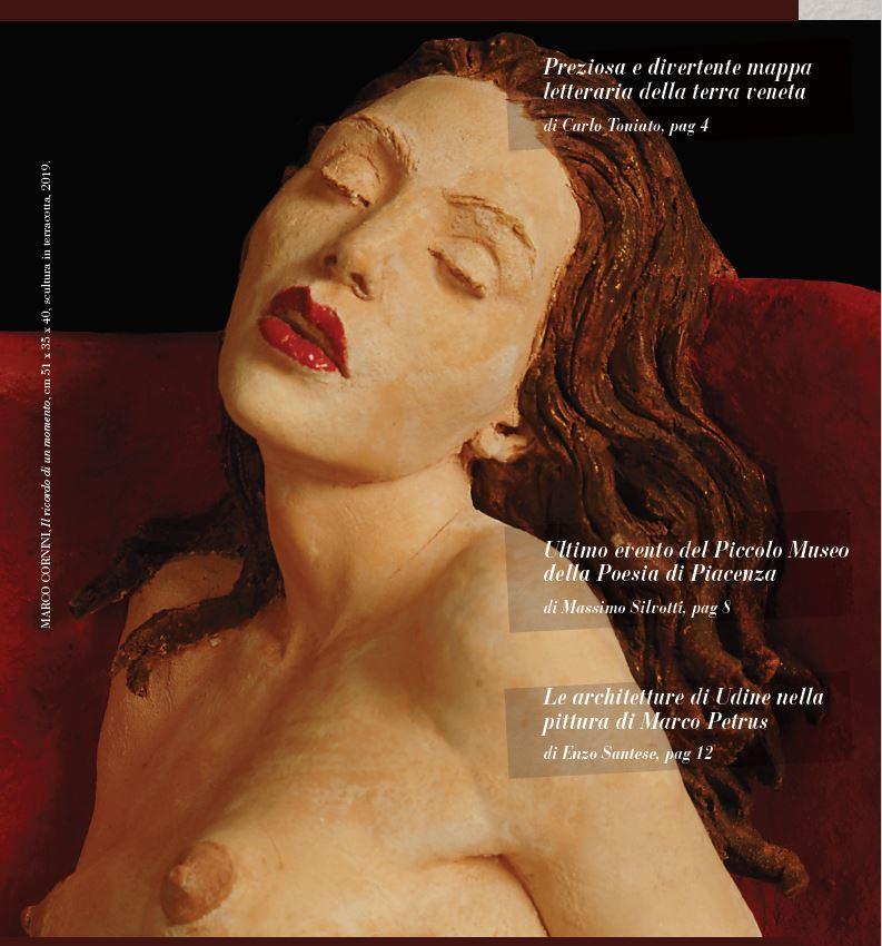 MARCO CORNINI, Il ricordo di un momento, cm 51 x 35 x 40, scultura in terracotta, 2019