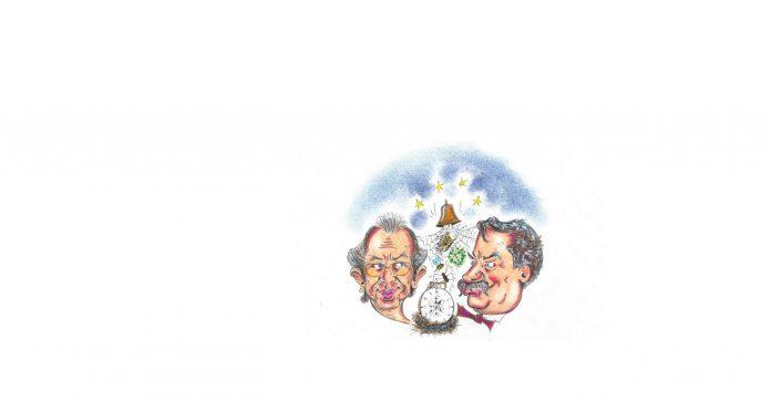 LORELLA FERMO, Massimo Parolini e Giovanni Pascoli, cm 21 x 29,7, tecnica mista su carta, 2021