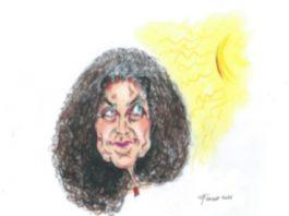 LORELLA FERMO, Maria Grazia Calandrone, cm 21 x 29,7, tecni¬ca mista su carta, 2021